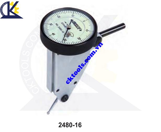 Đồng hồ so chân gập  INSIZE  2480-16 ,  LARGE RANGE  VERTICAL TYPE DIAL  TEST  INDICATOR   2480-16