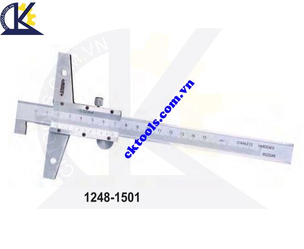 Thước đo sâu cơ khí  INSIZE  1248-1501 ,   VERNIER  HOOK DEPTH GAGES     1248-1501