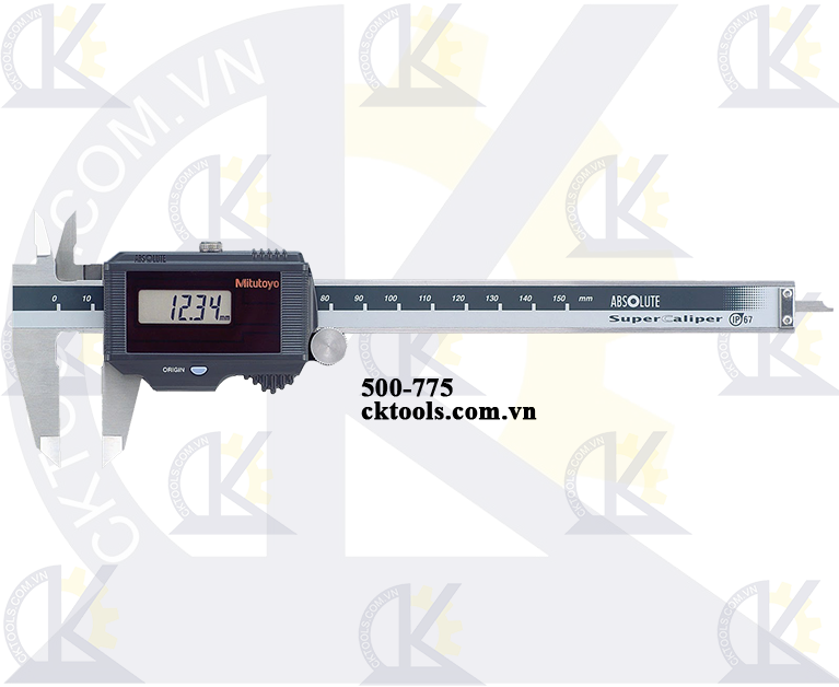 Thước cặp điện tử 0-8''/0-200mm x 0.01mm Pin Solar-500-785