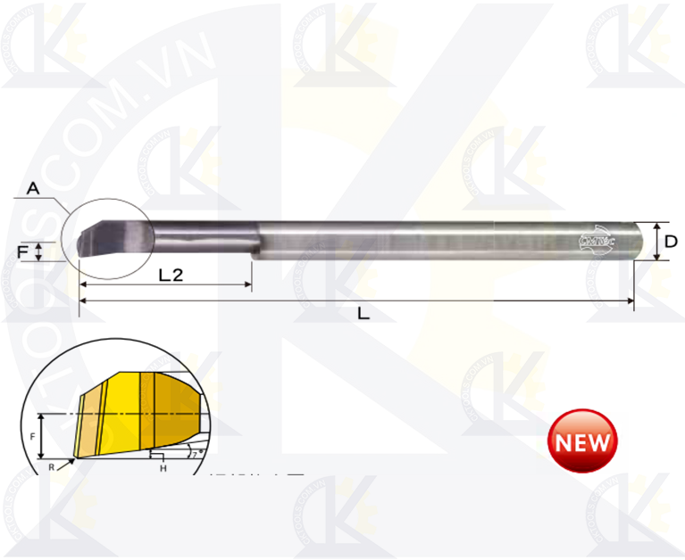 Cán tiện hợp kim CMTec CLB, Cán móc lỗ hợp kim CMTéc CLB