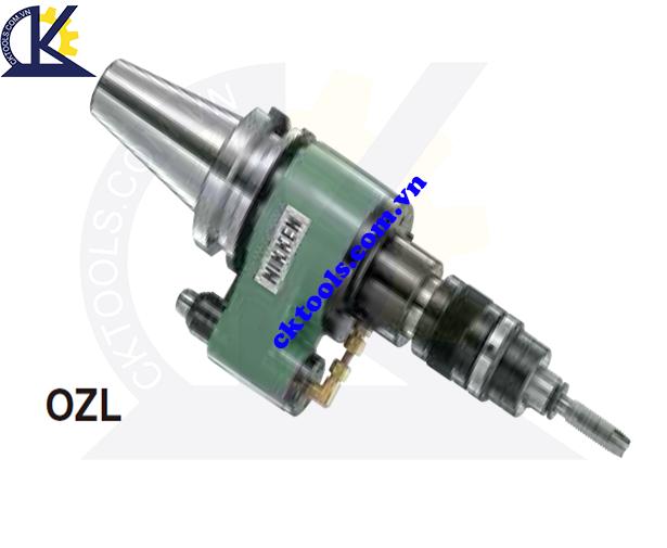 Đầu kẹp dao NIKKEN BT40-OZL, Holder NIKKEN BT40-OZL, AUTO DEPTH CONTROL TAPPER CHUCK FOR OIL HOLE TAP BT40-OZL