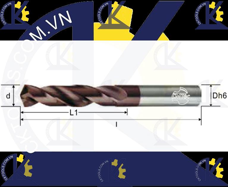 Mũi khoan hợp kim CMTec CDS2, Mũi khoan CMTéc CDS2