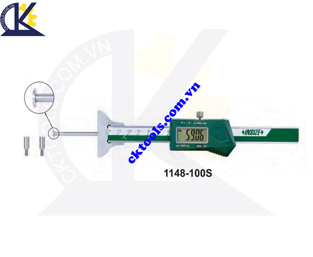 Thước đo sâu điện tử  INSIZE  1148-100S ,   DIGITAL DEPTH GAGES WITH ROUND DEPTH BAR    1148-100S
