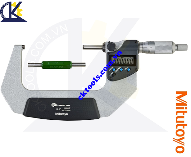 Panme Mitutoyo 3-4'/75-100mm/0.001mm, Panme đo ngoài Mitutoyo 3-4'/75-100mm/0.001mm, Panme điện tử Mitutoyo 3-4'/75-100mm/0.001mm, Panme đo ngoài điện tử Mitutoyo 293-343-30 3-4'/75-100mm/0.001mm
