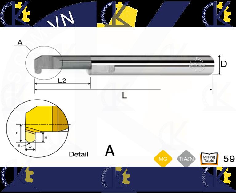 Cán tiện hợp kim CMTec CLRG, Cán móc lỗ hợp kim CMTéc CLRG