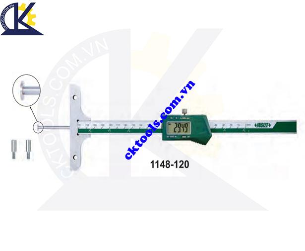 Thước đo sâu điện tử  INSIZE  1148-120 ,   DIGITAL DEPTH GAGES WITH ROUND DEPTH BAR    1148-120