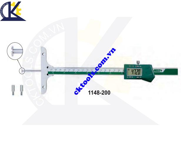Thước đo sâu điện tử  INSIZE  1148-200 ,   DIGITAL DEPTH GAGES WITH ROUND DEPTH BAR    1148-200