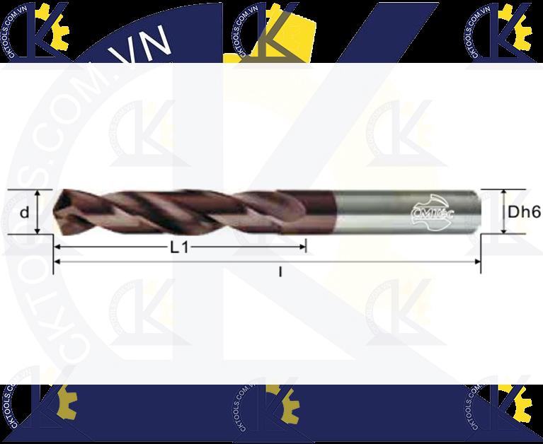 Mũi khoan hợp kim CMTec CDSF2, Mũi khoan CMTéc CDSF2
