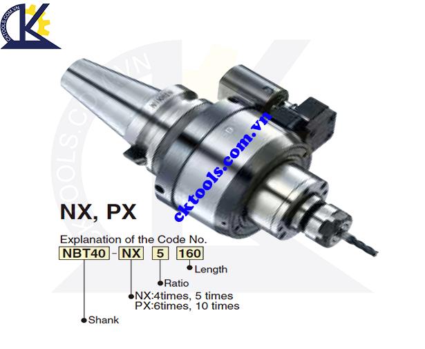 Đầu tăng tốc NIKKEN NBT30-NX-PX, Holder NIKKEN NBT30-NX-PX, HIGH SPEED SPINDLE SPEEDER NBT30-NX-PX