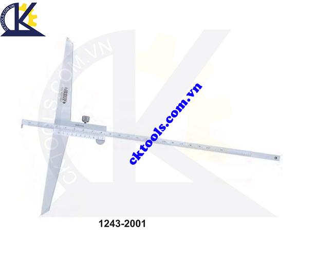Thước đo sâu cơ  khí INSIZE  1243-2001 ,   VERNIER  HOOK DEPTH GAGE   1243-2001