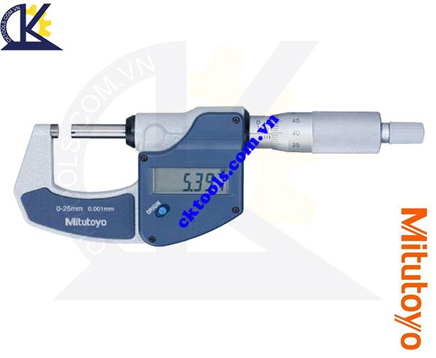 Panme Mitutoyo 0-25mm/0.001mm, Panme đo ngoài Mitutoyo 0-25mm/0.001mm, Panme điện tử Mitutoyo 0-25mm/0.001mm, Panme đo ngoài điện tử Mitutoyo 293-821-30 0-25mm/0.001mm
