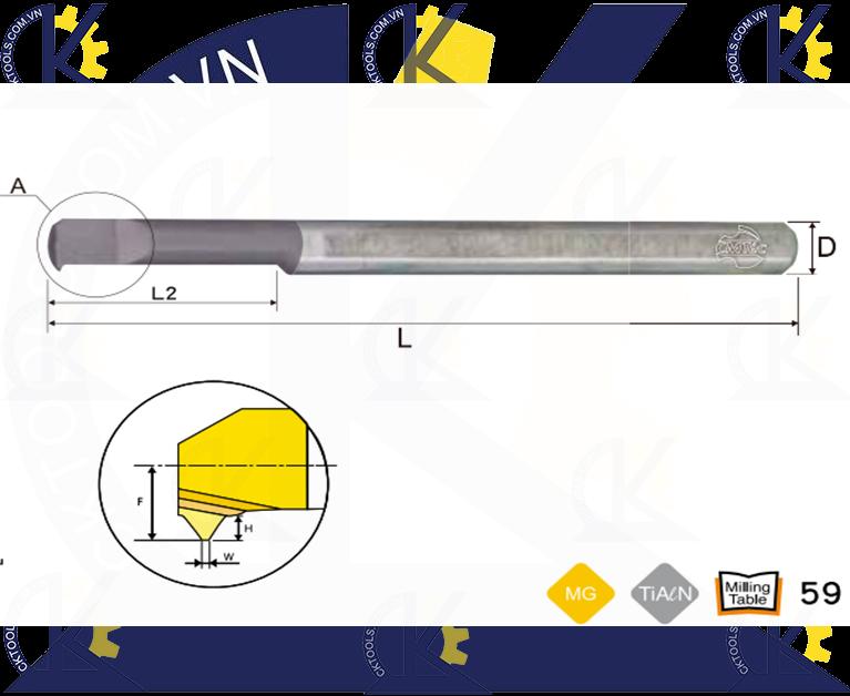 Cán tiện hợp kim CMTec CLT, Cán móc lỗ hợp kim CMTéc CLT