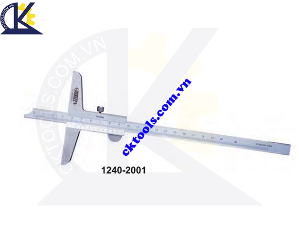 Thước đo sâu cơ khí  INSIZE  1240-2001 ,   VERNIER  DEPTH GAGES  (STANDARD TYPE )   1240-2001