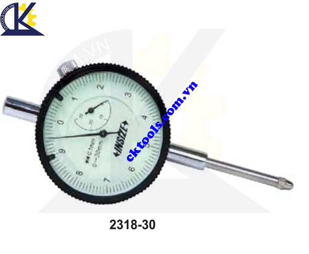 Đồng hồ so  INSIZE    2318-30 ,   DIAL  INDICATORS  (GRADUATION 0.1mm )   2318-30