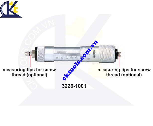 Panme đo trong  dạng ống  INSIZE  3226-1001 ,  INTERNAL SCREW THREAD  MICROMETERS  3226-1001