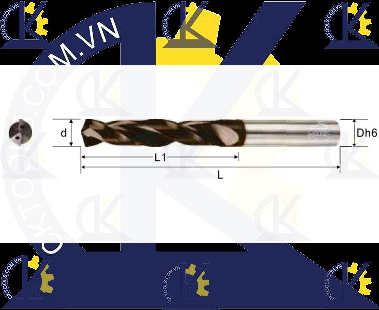 Mũi khoan hợp kim CMTec CDHC2, Mũi khoan CMTéc CDHC2