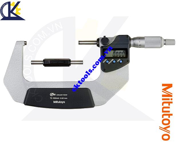 Panme Mitutoyo 75-100mm/0.001mm, Panme đo ngoài Mitutoyo 75-100mm/0.001mm, Panme điện tử Mitutoyo 75-100mm/0.001mm, Panme đo ngoài điện tử Mitutoyo 293-243-30 75-100mm/0.001mm(SPC)
