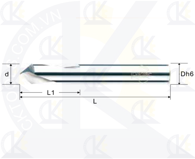 Mũi khoan tâm CMTec CDP90-CDP
