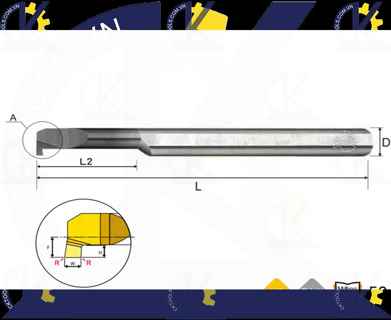 Cán tiện hợp kim CMTec CLG, Cán móc lỗ hợp kim CMTéc CLG