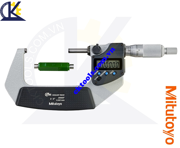 Panme Mitutoyo 2-3''/50-75mm/0.001mm, Panme đo ngoài Mitutoyo 2-3''/50-75mm/0.001mm, Panme điện tử Mitutoyo 2-3''/50-75mm/0.001mm, Panme đo ngoài điện tử Mitutoyo 293-332-30 2-3''/50-75mm/0.001mm(SPC)