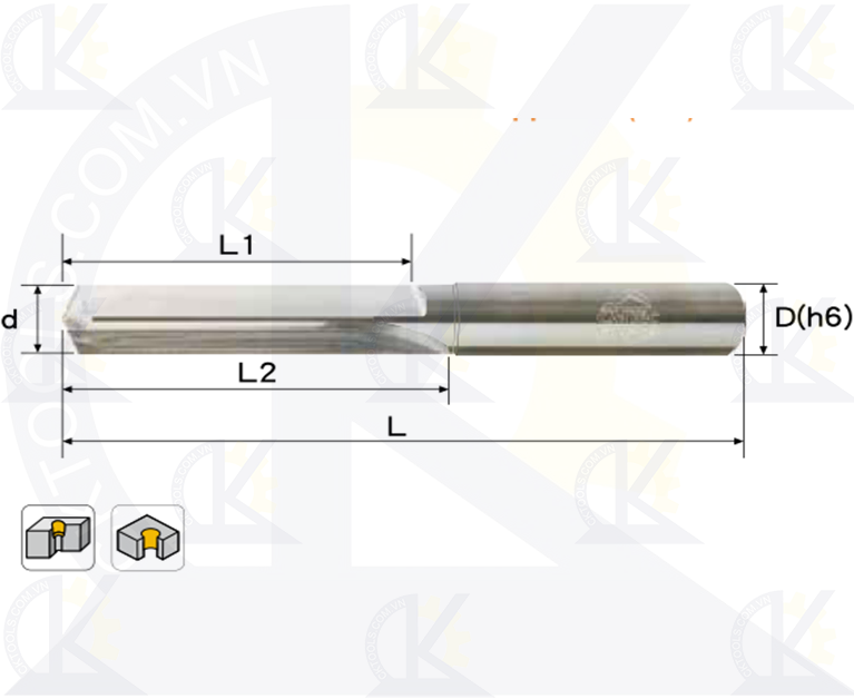 Mũi khoan hợp kim CMTec CDR2, Mũi khoan CMTéc CDR2