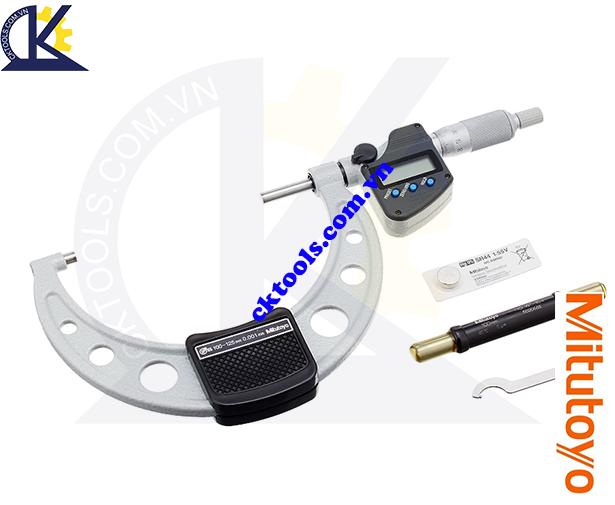 Panme Mitutoyo 100-125mm/0.001mm, Panme đo ngoài Mitutoyo 100-125mm/0.001mm, Panme điện tử Mitutoyo 100-125mm/0.001mm, Panme đo ngoài điện tử Mitutoyo 293-250-30 100-125mm/0.001mm(SPC)