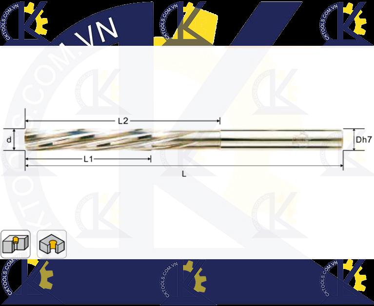 Mũi doa hợp kim CMTec CRS4-CRS6, Mũi reamer CMTéc CRS4-CRS6
